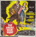 """Movie Posters:Thriller, The Great Manhunt (Columbia, 1950). Six Sheet (81"""" X 81""""). Thriller.. ..."""