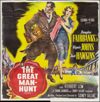 "The Great Manhunt (Columbia, 1950). Six Sheet (81"" X 81""). Thriller"