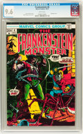 Bronze Age (1970-1979):Horror, Frankenstein #6 (Marvel, 1973) CGC NM+ 9.6 White pages....