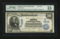 National Bank Notes:Wisconsin, Chippewa Falls, WI - $20 1902 Date Back Fr. 648 The First NB Ch. # (M)2125. ...