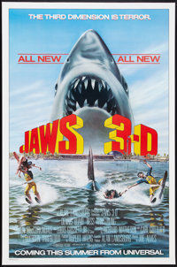 """Jaws 3-D Lot (Universal, 1983-1987). One Sheets (2) (27"""" X 41""""). Thriller. ... (Total: 2 Items)"""