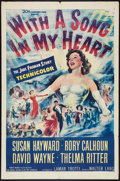 "Movie Posters:Musical, With a Song in My Heart (20th Century Fox, 1952). One Sheet (27"" X 41""), and Half Sheet (22"" X 28""). Musical.. ... (Total: 2 Items)"