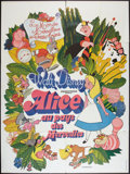 "Movie Posters:Animation, Alice in Wonderland (Walt Disney, R- Late 1970s). French Grande (47"" X 63""). Animation.. ..."