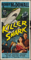 "Movie Posters:Adventure, Killer Shark (Monogram, 1950). Three Sheet (41"" X 81""). Adventure....."
