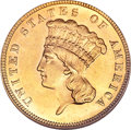 Three Dollar Gold Pieces, 1887 $3 MS63 NGC....