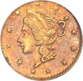 California Fractional Gold, (1853) 25C Liberty Round 25 Cents, BG-204B, R.8, AU58 NGC....