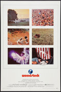 "Movie Posters:Rock and Roll, Woodstock (Warner Brothers, 1970). One Sheet (27"" X 41""). Rock and Roll.. ..."