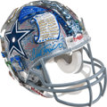Football Collectibles:Helmets, Dallas Cowboys 50th Anniversary Celebratory Helmet Created by 3-D Pop Artist Charles Fazzino Benefiting The Salvation Army....