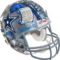 Dallas Cowboys 50th Anniversary Celebratory Helmet Created by 3-D Pop Artist Charles Fazzino Benefiting The Salvation Ar...