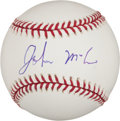 Autographs:Bats, John McCain Single Signed Baseball. ...