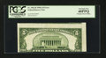 Error Notes:Miscellaneous Errors, Fr. 1962-B $5 1950A Federal Reserve Note. PCGS Extremely Fine 40PPQ.. ...