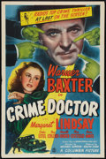 "Movie Posters:Crime, Crime Doctor (Columbia, 1943). One Sheet (27"" X 41""). Crime.. ..."