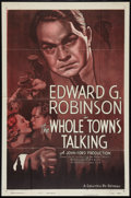 "Movie Posters:Comedy, The Whole Town's Talking (Columbia, R-1949). One Sheet (27"" X 41""). Comedy.. ..."