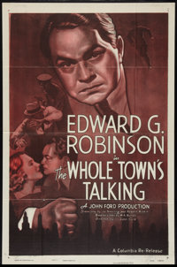 """The Whole Town's Talking (Columbia, R-1949). One Sheet (27"""" X 41""""). Comedy"""