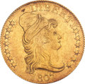 Early Half Eagles, 1807 $5 Bust Right AU53 PCGS. Small Date, Small Obverse Stars,Large Reverse Stars, Breen-6450, BD-2, R.5....