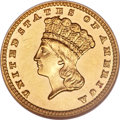 Proof Gold Dollars, 1881 G$1 --Scratched--ANACS. Net PR50....