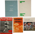 Football Collectibles:Publications, Vintage Football Signed and Unsigned Books Lot of 9....