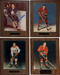 Hockey Collectibles:Photos, Hockey Legends Signed Photograph Plaques Lot of 4....