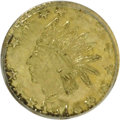 California Fractional Gold: , 1876 25C Indian Round 25 Cents, BG-853, Low R.5, MS63 PCGS. PCGSPopulation (10/14). NGC Census: (1/1). (#10714)...
