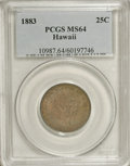 Coins of Hawaii: , 1883 25C Hawaii Quarter MS64 PCGS. PCGS Population (247/183). NGCCensus: (148/165). Mintage: 500,000. (#10987)...