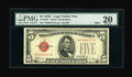 Small Size:Legal Tender Notes, Fr. 1528* $5 1928C Mule Legal Tender Star Note. PMG Very Fine 20.. ...