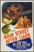 "Movie Posters:Drama, Main Street After Dark (MGM, 1945). One Sheet (27"" X 41"") and Lobby Cards (7) (11"" X 14""). Drama.. ... (Total: 8 Items)"