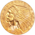 Indian Quarter Eagles, 1914 $2 1/2 MS64 PCGS....