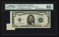 Error Notes:Attached Tabs, Fr. 1654 $5 1934D Wide I Silver Certificate. PMG ChoiceUncirculated 63 EPQ.. ...