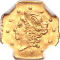 California Fractional Gold, 1868 50C Liberty Octagonal 50 Cents, BG-906, High R.4, MS67 NGC....
