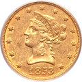 Liberty Eagles, 1853-O $10 AU55 PCGS....