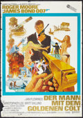 "Movie Posters:James Bond, The Man with the Golden Gun (United Artists, 1974). German A0 (33"" X 46""). James Bond.. ..."