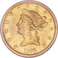 Liberty Eagles, 1839 $10 Type of 1840, Small Letters--Cleaned--ANACS. AU50Details....