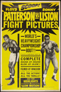 """Movie Posters:Sports, Liston vs. Patterson (Allied Artists, 1963). Poster (40"""" X 60""""). Sports.. ..."""