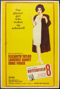 """Butterfield 8 (MGM, 1960). Poster (40"""" X 60"""") Style Y. Drama"""