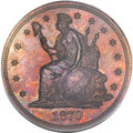 Patterns, 1870 $1 One Dollar, Judd-1016, Pollock-1150, R.7, PR65 Red andBrown PCGS....