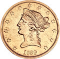 Liberty Eagles, 1839 $10 Type of 1840, Small Letters--Damaged--ANACS. AU50Details....