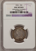 Bust Quarters, 1836 25C --Improperly Cleaned--NGC Details. F. NGC Census: (0/123). PCGS Population (6/162). Mintage: 472,000. Numismedia Ws...