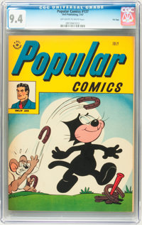 Popular Comics #137 File Copy (Dell, 1947) CGC NM 9.4 Off-white to white pages