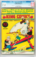 Platinum Age (1897-1937):Miscellaneous, King Comics #10 Lost Valley pedigree (David McKay Publications,1937) CGC VF- 7.5 Cream to off-white pages....