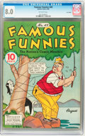 Golden Age (1938-1955):Miscellaneous, Famous Funnies #49 Lost Valley pedigree (Eastern Color, 1938) CGC VF 8.0 Off-white pages....
