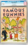 Platinum Age (1897-1937):Miscellaneous, Famous Funnies #34 (Eastern Color, 1937) CGC VF- 7.5 Off-white towhite pages....