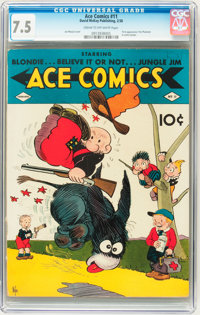 Ace Comics #11 (David McKay Publications, 1938) CGC VF- 7.5 Cream to off-white pages