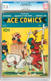 Ace Comics #19 (David McKay Publications, 1938) CGC VF- 7.5 Off-white to white pages