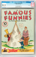 Golden Age (1938-1955):Humor, Famous Funnies #45 Lost Valley pedigree (Eastern Color, 1938) CGC VF+ 8.5 Off-white to white pages....