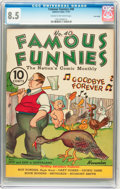 Platinum Age (1897-1937):Miscellaneous, Famous Funnies #40 Lost Valley pedigree (Eastern Color, 1937) CGC VF+ 8.5 Cream to off-white pages....