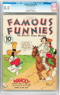 Golden Age (1938-1955):Humor, Famous Funnies #44 (Eastern Color, 1938) CGC VF 8.0 Cream to off-white pages....
