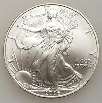 2006-W $1 20th Anniversary Silver Eagle 20th Anniversary Set Uncirculated and Proof. this Set Includes 2006-W Silver Eag...
