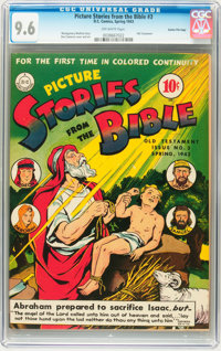 Picture Stories from the Bible Old Testament #3 Gaines File Copy pedigree (DC, 1943) CGC NM+ 9.6 Off-white pages