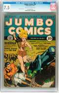 Golden Age (1938-1955):Adventure, Jumbo Comics #45 (Fiction House, 1942) CGC VF- 7.5 Cream to off-white pages....