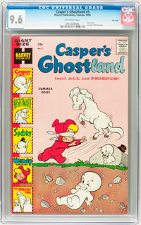 Casper's Ghostland #3 File Copy (Harvey, 1959) CGC NM+ 9.6 Off-white pages